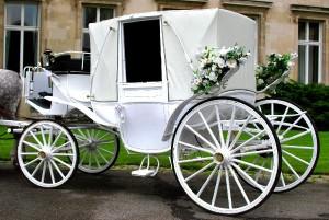 eine Kutsche für die Hochzeit
