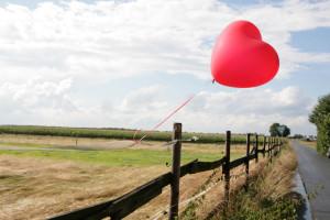 herz,luftballon als zeichen für feier